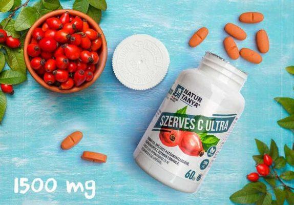 Natur Tanya - Szerves C Ultra 1500mg 60db - c-vitamin tabletta